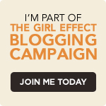 I'm part of the girl effect blogging campaign. Join me today.