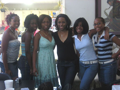 Dr. Carla and HOTGIRLS Girls Leadership Council graduates